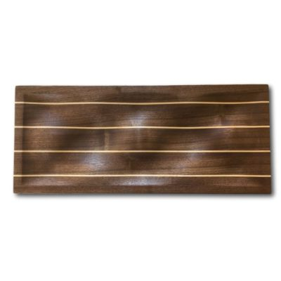 Walnut Bumbs W/ Maple Laminated Stripes Tray